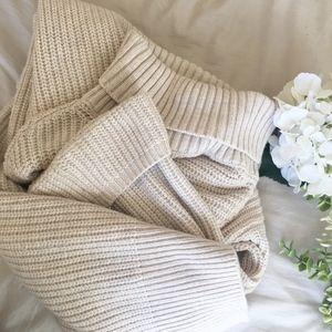 ANTHROPOLOGIE- MOTH Cream Knit Sweater Dress